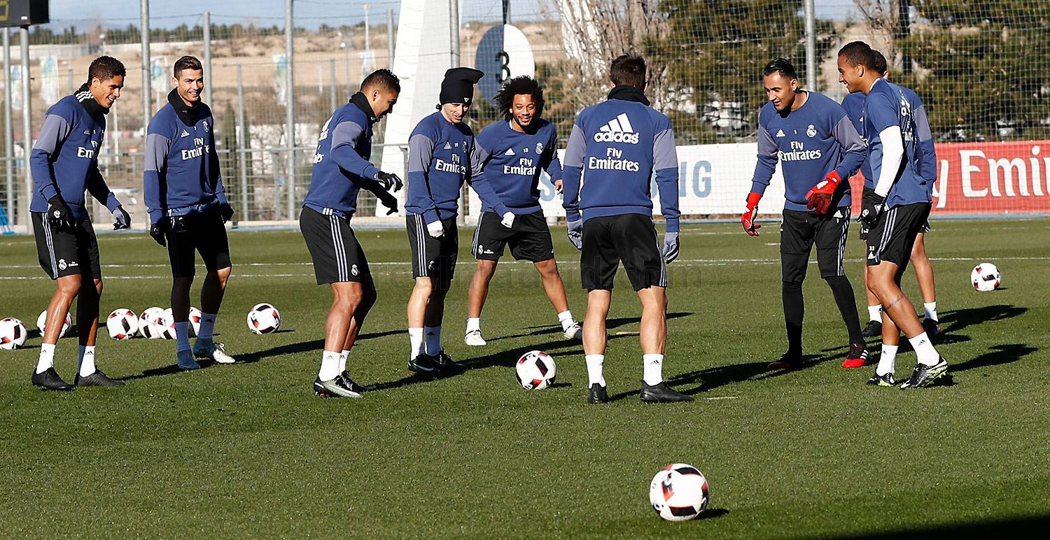 Real Madrid - Entrenamiento del Real Madrid - 17-01-2017