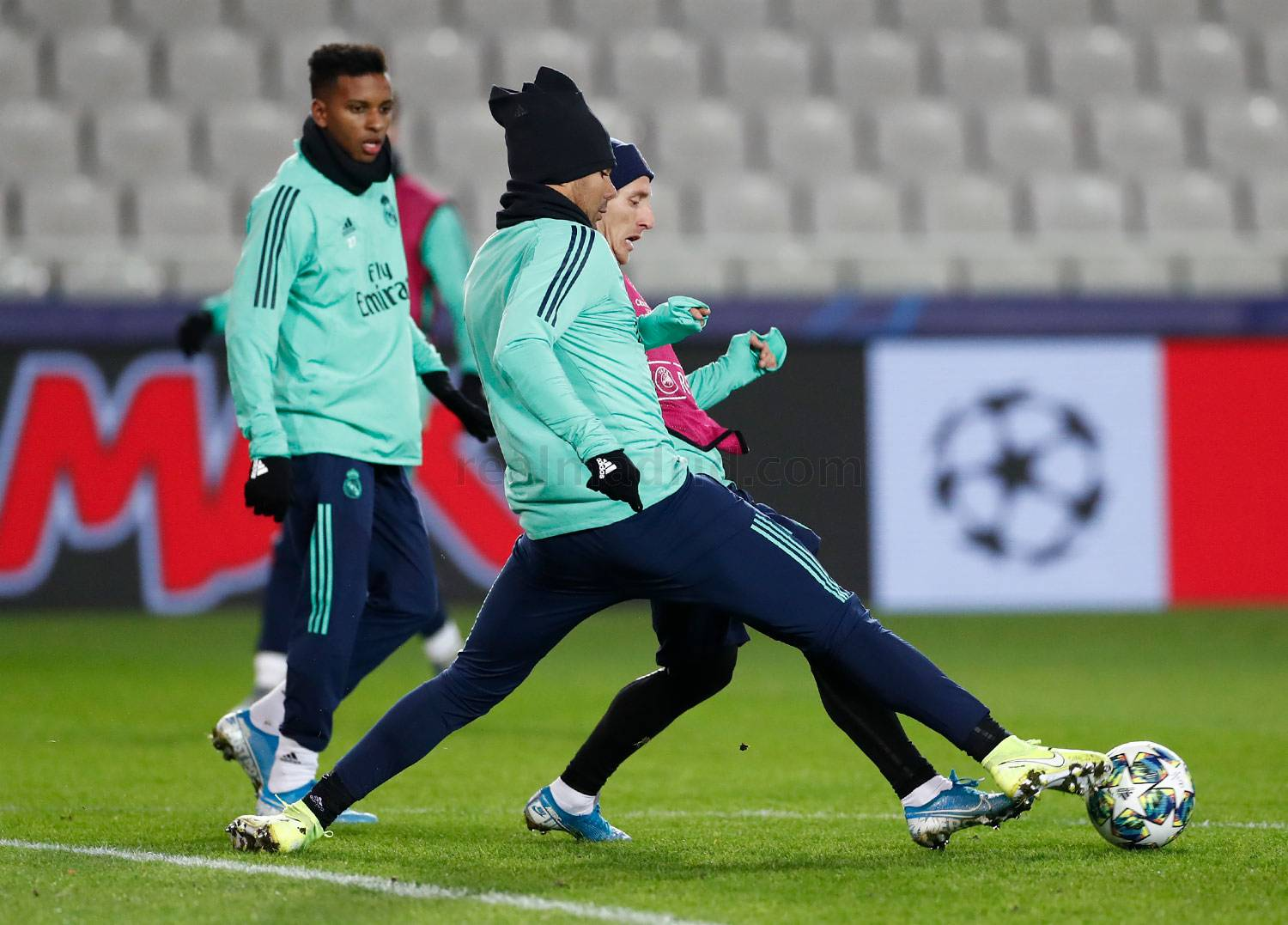 Real Madrid - Entrenamiento del Real Madrid en Brujas - 10-12-2019