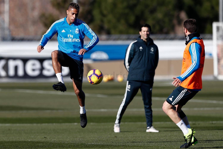Mariano, durante el entrenamiento (Vía Real Madrid).