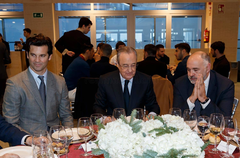 """Florentino Peres """"Real"""" basketbol va futbol jamoalari bilan tushlik tashkil etdi"""