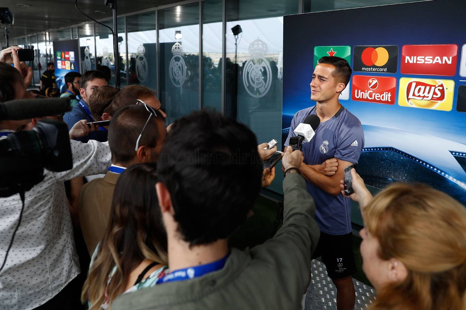 Real Madrid - Lucas Vázquez durante el Open Media Day 2017 - 30-05-2017