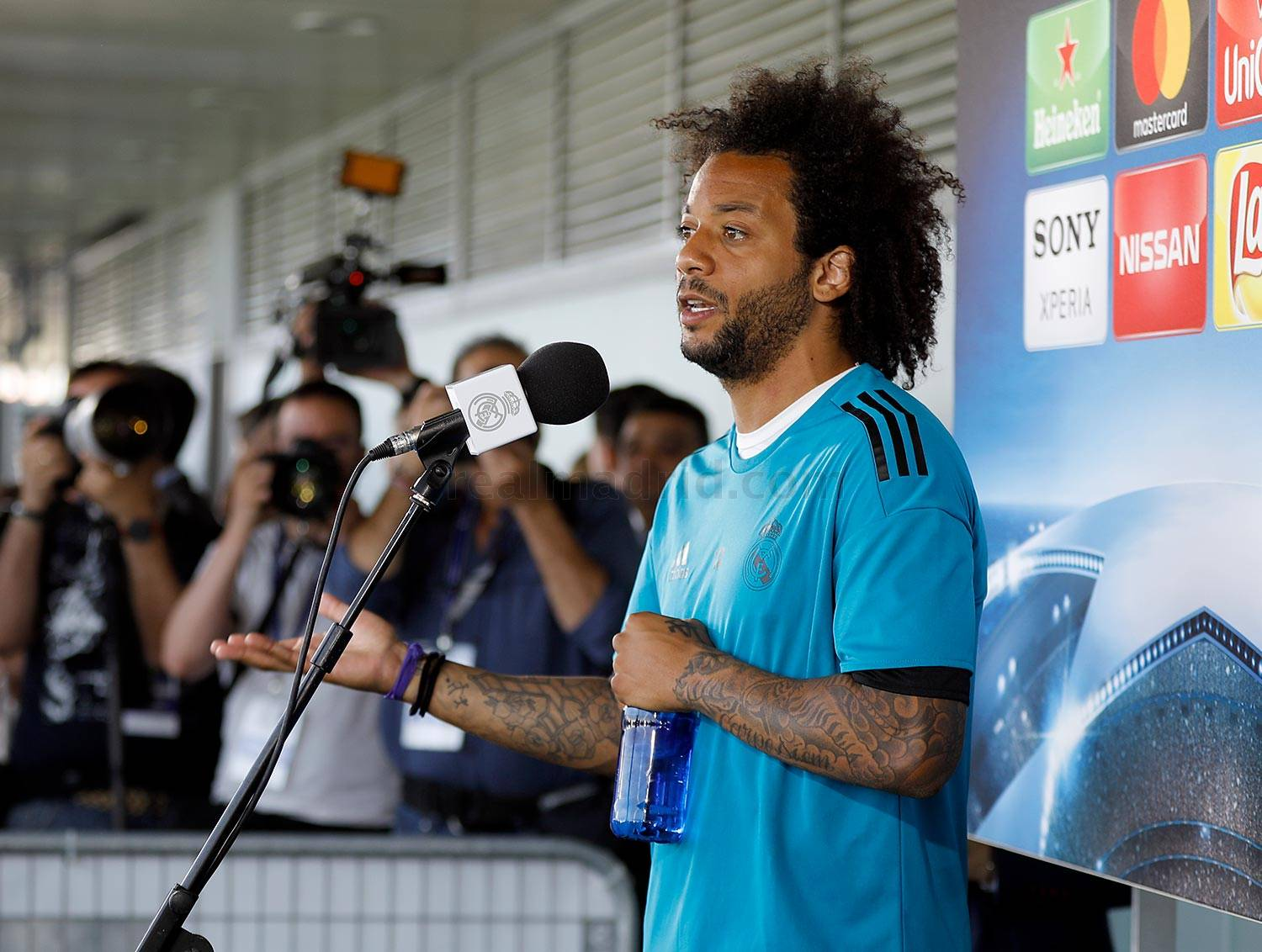 Real Madrid - Marcelo durante el Open Media Day 2018 - 22-05-2018