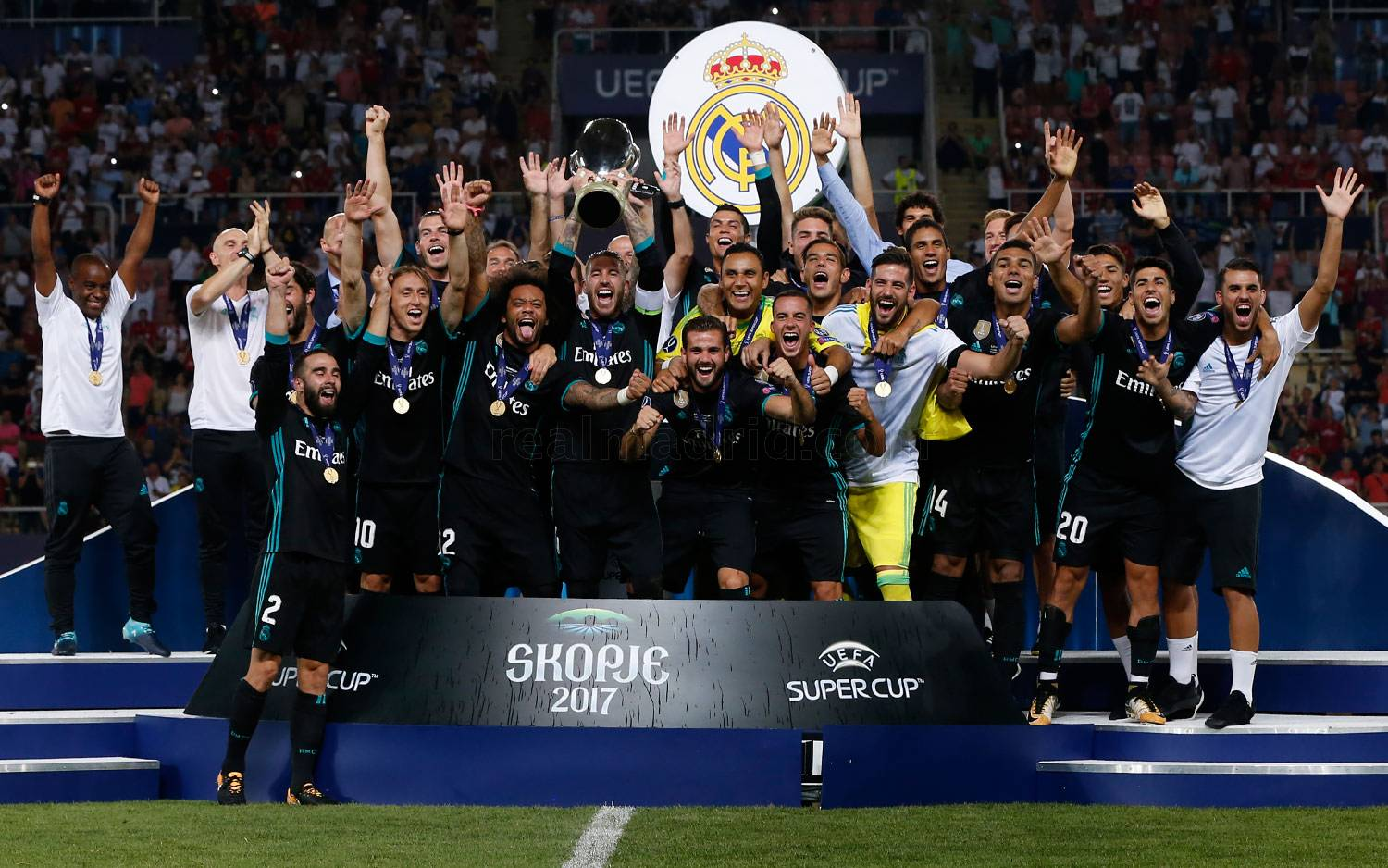 Real Madrid - Con la Supercopa de Europa en Macedonia - 07-09-2020