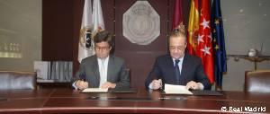 Firma de acuerdo entre la Fundación Real Madrid y el Banco Interamericano de Desarrollo