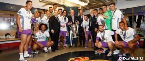 Así celebró el Real Madrid la Duodécima en el vestuario