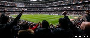 Plano general del Estadio Santiago Bernabéu