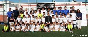 Roberto Carlos visitó la escuela sociodeportiva de la Fundación Real Madrid y Endesa en Tenerife