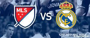 Cartel del partido del Real Madrid en Chigago