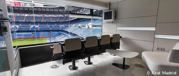 Bernab u first tier boxes seasonal hospitality real for Puerta 23 bernabeu