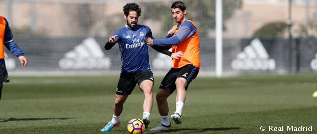 Entrenamiento del Real Madrid