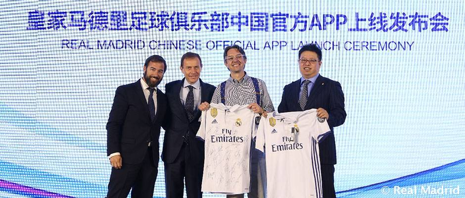 El Real Madrid presenta su app en China