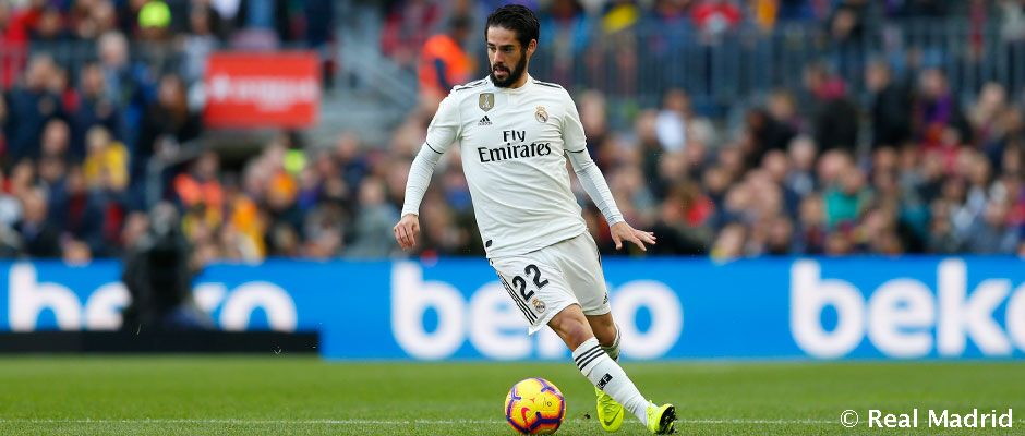 Isco: 250 games for Real Madrid