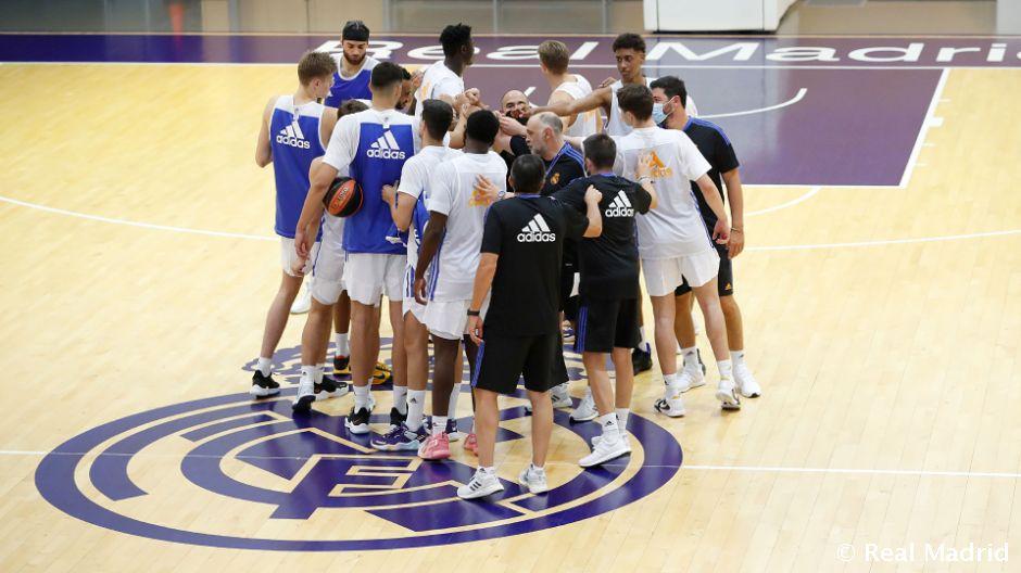 Primer entrenamiento del Real Madrid de baloncesto