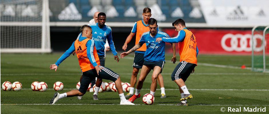 Entrenamiento del Real Madrid (Foto: Real Madrid).