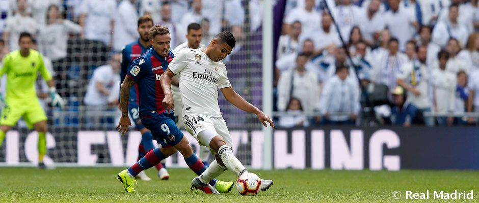 Casemiro: 100 LaLiga appearances for Real Madrid
