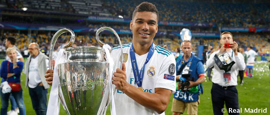 Casemiro enjoys fourth Champions League triumph in as many editions