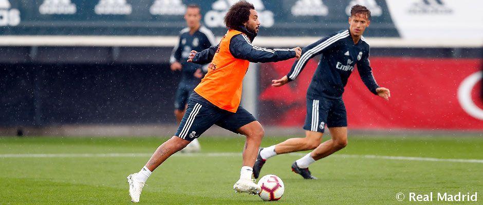 Marcelo, en la sesión bajo la lluvia (Foto: RM).