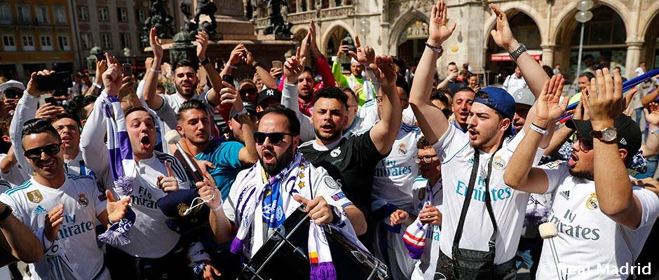 8bbba2de6 The fans are with Real Madrid in Munich | Real Madrid CF