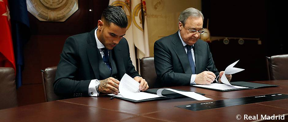 Theo signs Real Madrid contract