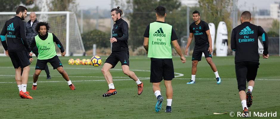 _4am6755_horizontal Bale se entrena con el grupo mientras que Varane y Carvajal lo hacen parcialmente - Comunio-Biwenger