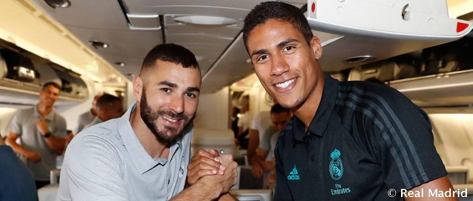 Salida del Real Madrid a Los Ángeles