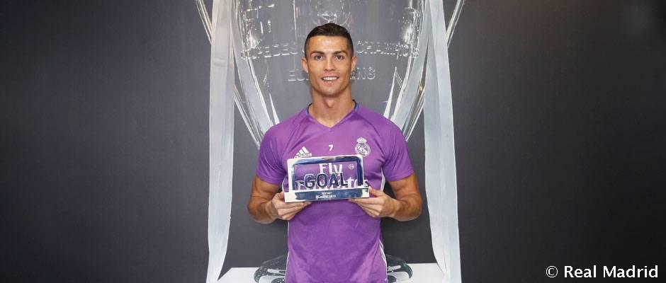 Cristiano Ronaldo, premio Goal