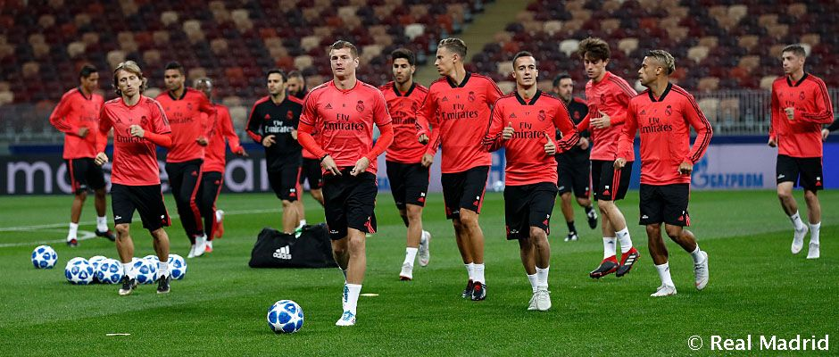 Entrenamiento del Real Madrid en Moscú