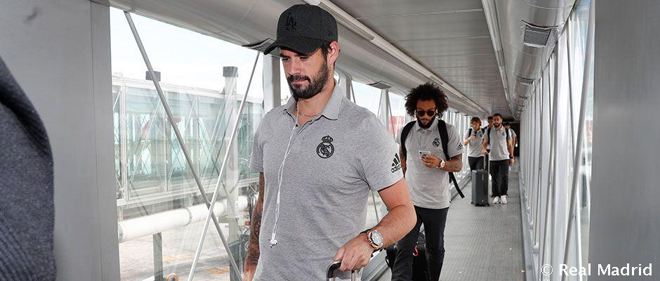 Llegada del Real Madrid a Madrid