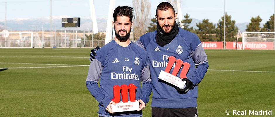 Isco and Benzema, Mahou Five Star players in November and December | Real  Madrid CF