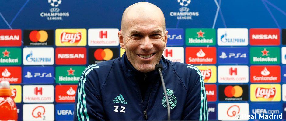 Zidane, durante la rueda de prensa (Foto: RM).