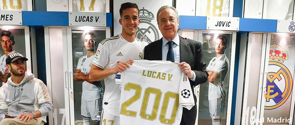 Lucas Vazquez celebrates 200 matches with Madrid