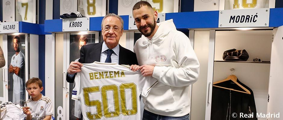Benzema, 500 matches for Real Madrid