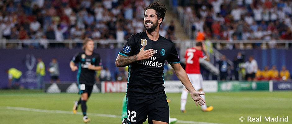 Isco Manchester United real madrid supercopa de europa 2017
