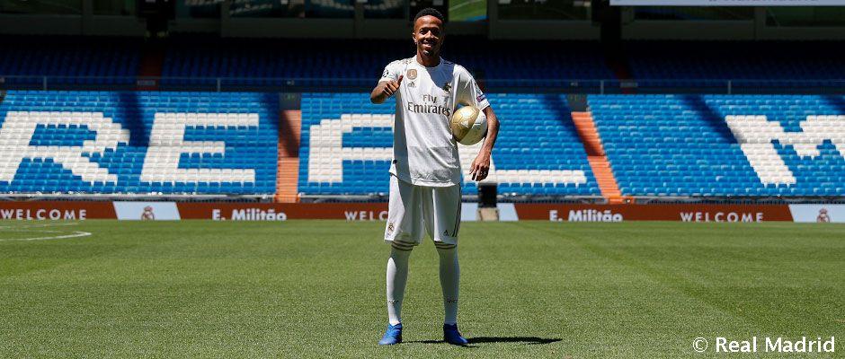 Militão pisó el césped del Santiago Bernabéu