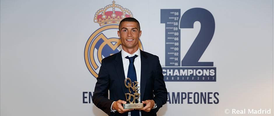 Cristiano Ronaldo, galardonado con el Onze de Oro
