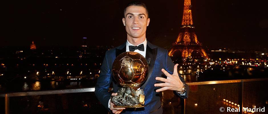 Cristiano Ronaldo wins his fifth Golden Ball