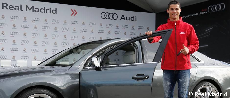 Audi le entregó nuevos vehiculos a los jugadores del Real Madrid