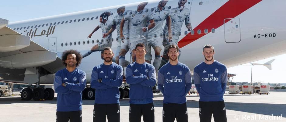 emirates a pr sent le nouveau a380 du real madrid real