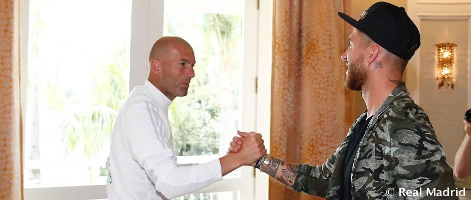 Primer día de pretemporada de Sergio Ramos en Los Ángeles