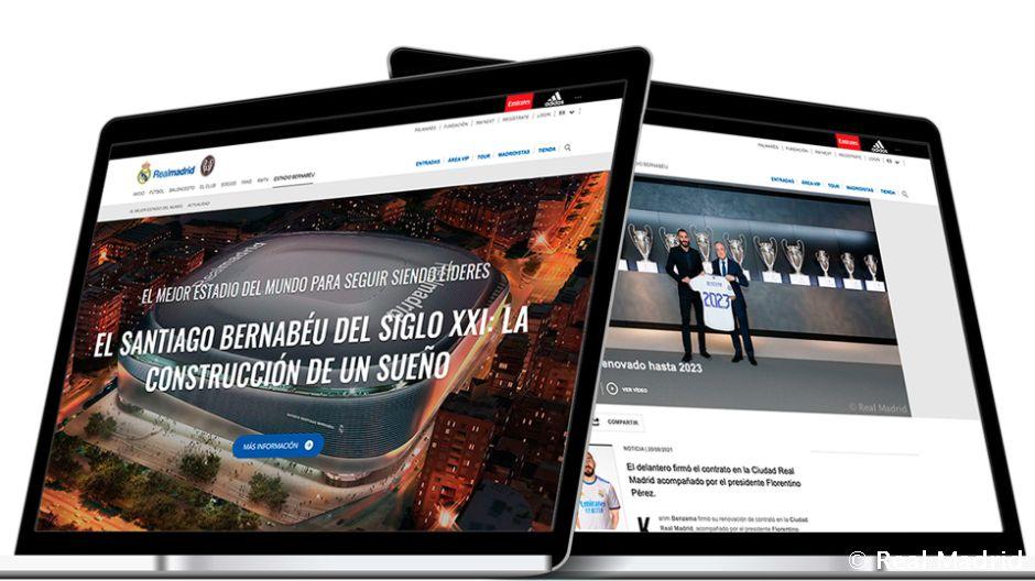 Realmadrid.com, la web de clubes de fútbol más visitada del mundo por quinto año consecutivo