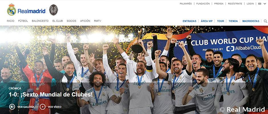 Real Madrid Homepage