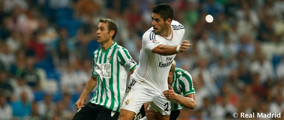 isco debut real madrid betis