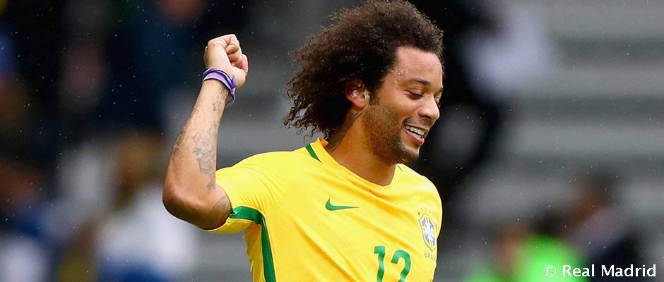 Marselo Braziliya tarkibida Yaponiya darvozasiga gol urdi, Kazemiro 90 daqiqa o'ynadi
