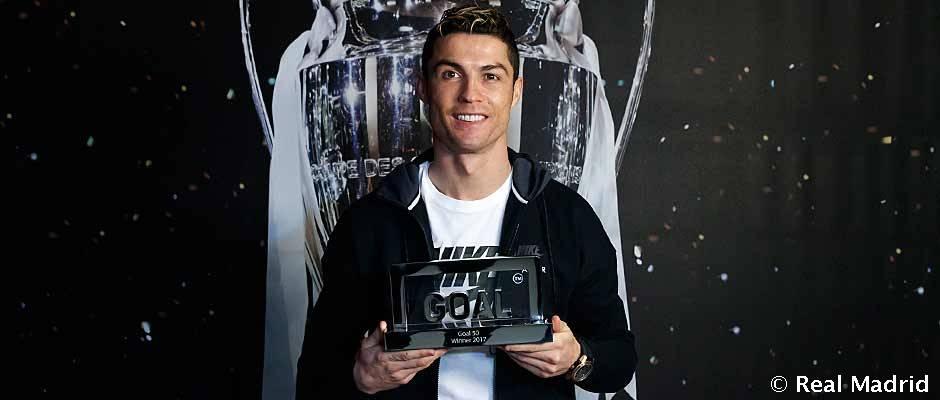 Cristiano Ronaldo, premio Goal 50