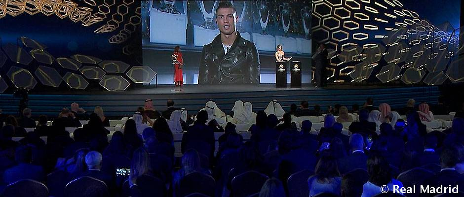 Florentino en la entrega de los Premios Globe Soccer