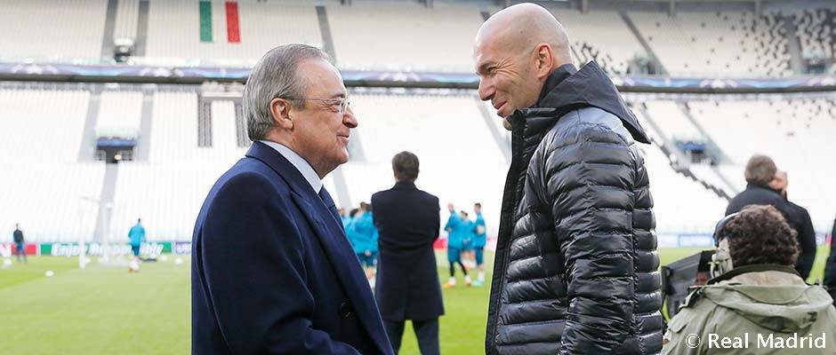 CHAMPIONS CUARTOS (IDA) 03/04/2018 JUVENTUS  REAL MADRID Presidente-zidane_1am8200