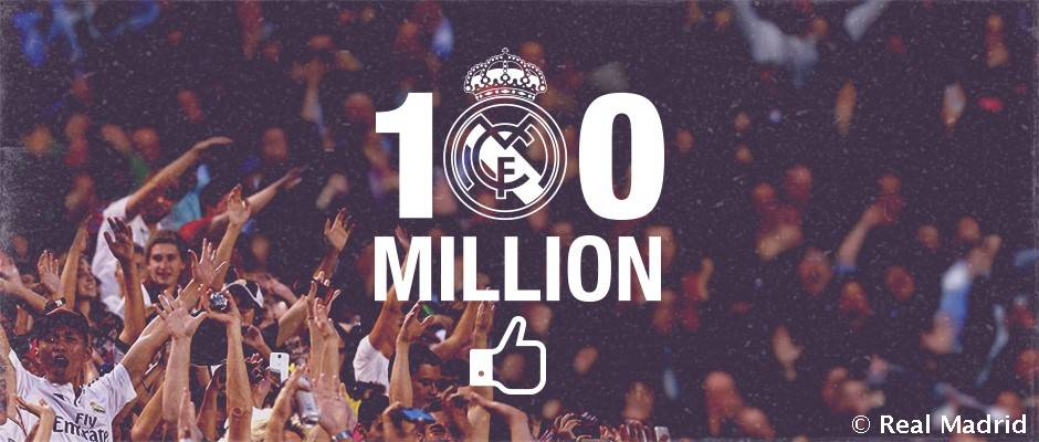 75e2a01de Real Madrid eclipse 100 million likes on Facebook | Real Madrid CF