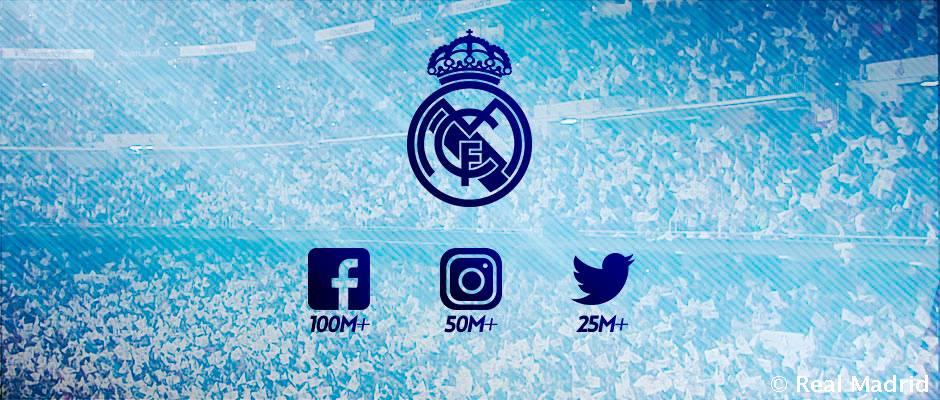 El Real Madrid, el primero en superar los 100 millones de fans en Facebook, los 50 en Instagram y los 25 en Twitter