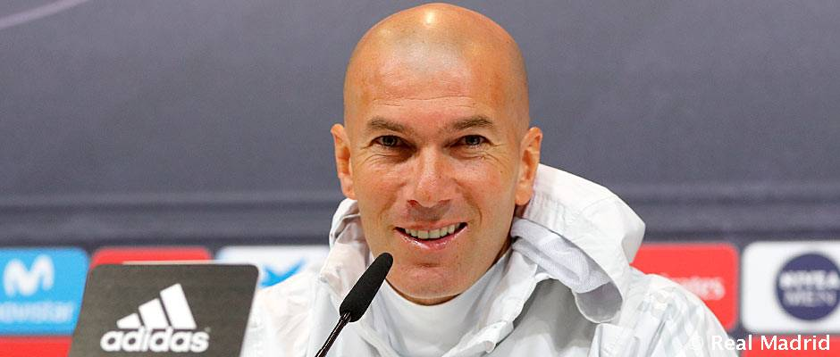 LIGA J 31 08/04/2018 REAL MADRID ATLETICO DE MADRID Rueda-de-prensa-de-zidane
