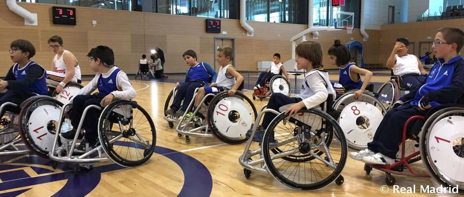 Jornada inclusiva en el torneo de baloncesto con silla de ruedas real madrid cf - Baloncesto silla de ruedas ...